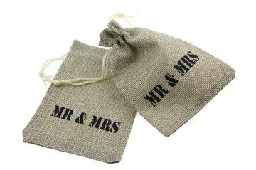 Jute zakje trouwen