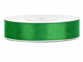 Groen satijn lint 12 mm breed