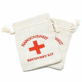 Katoenen zakjes hangoverkit recovery kit
