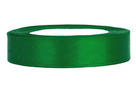 Groen satijn lint 1 cm breed