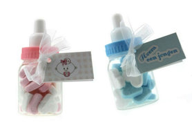 Geboortebedankjes papfles met hartjes
