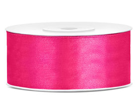 Fuchsia satijn lint 25 mm breed