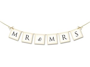 Slinger Mr & Mrs met satijn lint