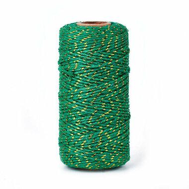 Bakkerstouw groen goud metalic 100 meter