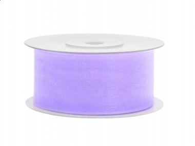 Organza lint 38 mm Lavendel 25 meter rol