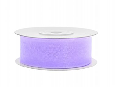 Organza lint 25 mm Lavendel