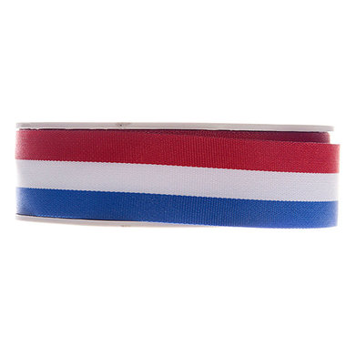 Nederlandse vlag lint 25 mm breed 20 meter rol