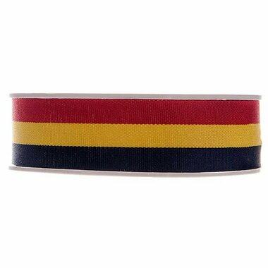 Belgische vlag lint 25 mm breed 20 meter rol