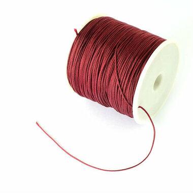 Nylonkoord 1 mm bordeaux rood