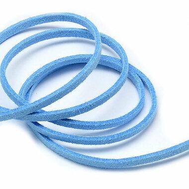 Suede koord 3 mm hemelsblauw