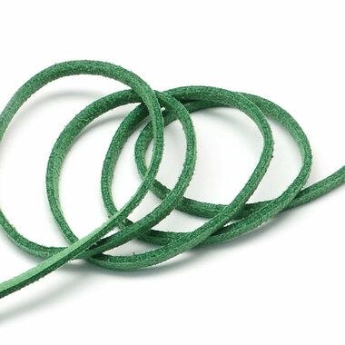Suede koord 3 mm groen