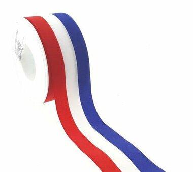 Nederlandse vlag lint 4 cm breed 25 meter rol