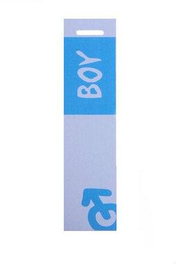 6 langwerpige labels voor doopsuikerdoosje Boy