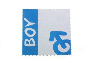 10 labels voor doopsuikerdoosje Boy