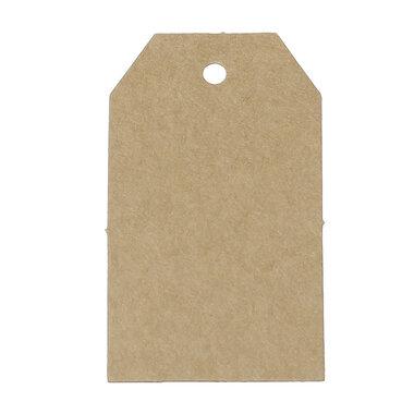 Kraft labels 4.7 x 7 cm
