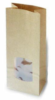 Kraft papier blokzakje met venster