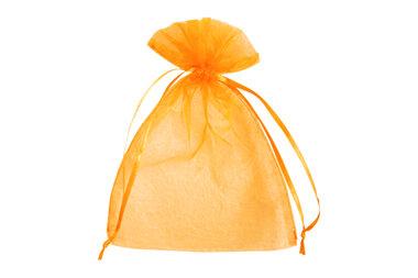 Organza zakjes oranje 7.5 x 10 cm