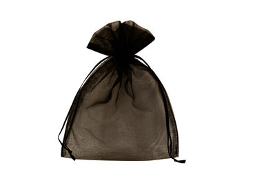 Organza zakjes zwart 7.5 x 10 cm
