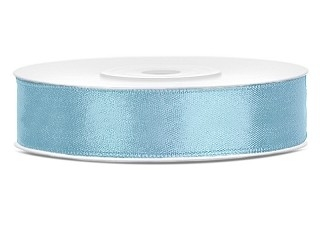 Licht blauw satijn lint 1.2 cm breed