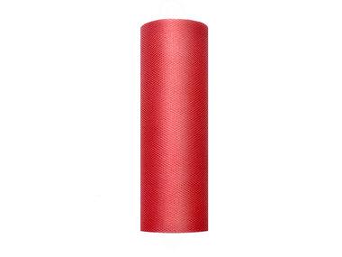15 cm Tule lint rood
