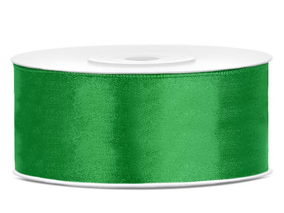 Groen satijn lint 25 mm breed