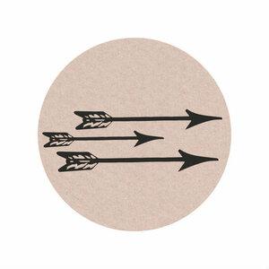 Ronde stickers pijlen 10 stuks