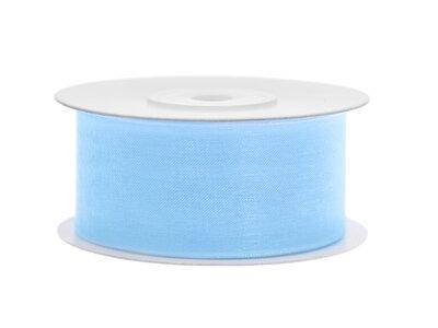 Organza lint 38 mm licht blauw 25 meter rol