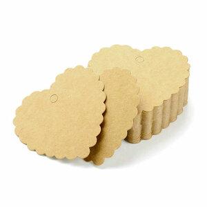 Kraft labels hart geschulpt 10 stuks