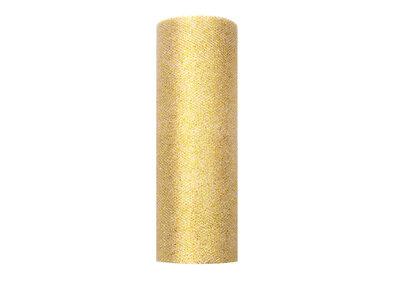 15 cm tule lint goud glitter